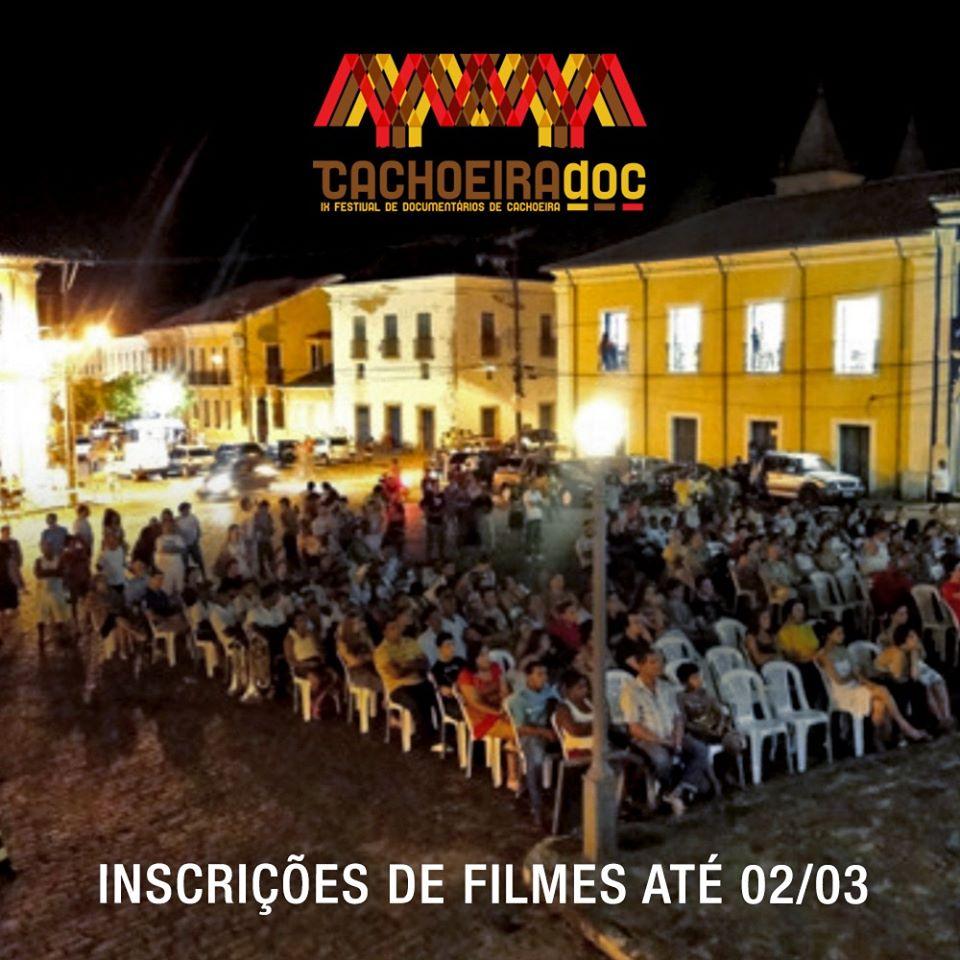 Inscrições de filmes para o IX CachoeiraDoc começam hoje!